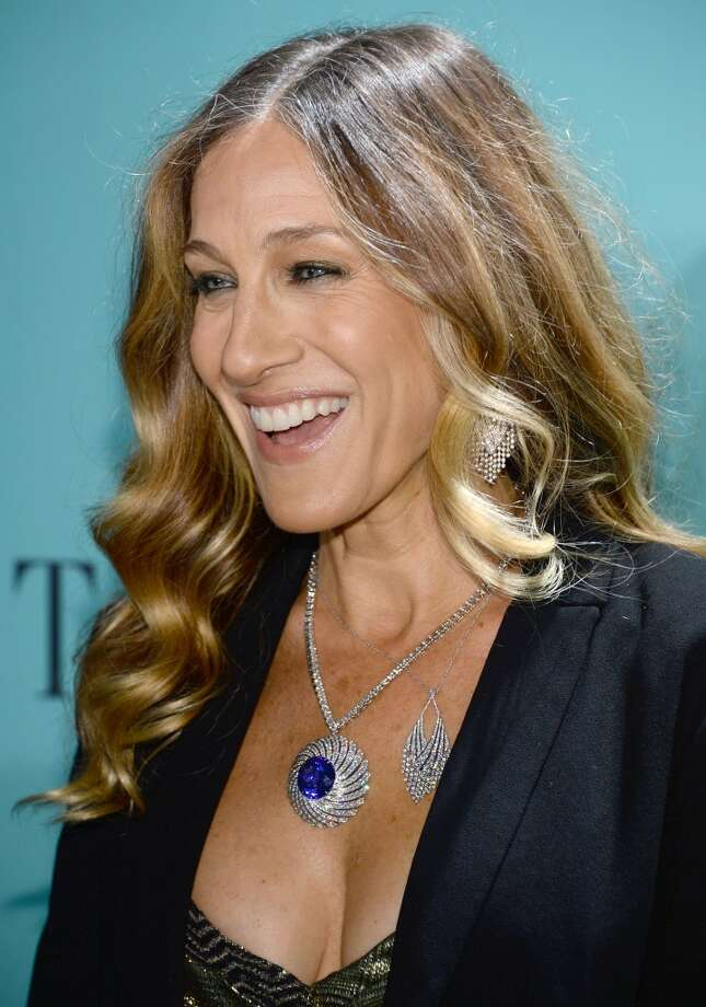 Actress Sarah Jessica Parker is wearing Diamonds from the Tiffany & Co. 2013 Blue Book Collection as she attends the Tiffany & Co. Blue Book Ball at Rockefeller Center on April 18, 2013 in New York City.