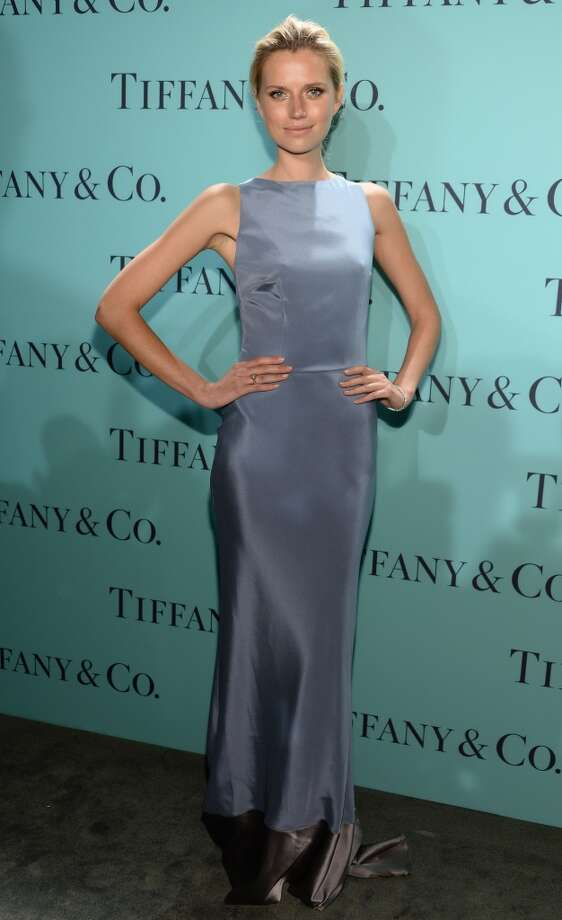 Model Cato van Ee is wearing Diamonds from the Tiffany & Co. 2013 Blue Book Collection as she attends the Tiffany & Co. Blue Book Ball at Rockefeller Center on April 18, 2013 in New York City.