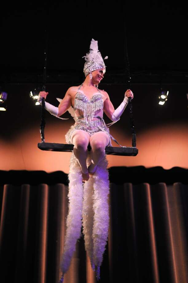 A dancer performs at the Tiffany & Co. Blue Book Ball at Rockefeller Center on April 18, 2013 in New York City.