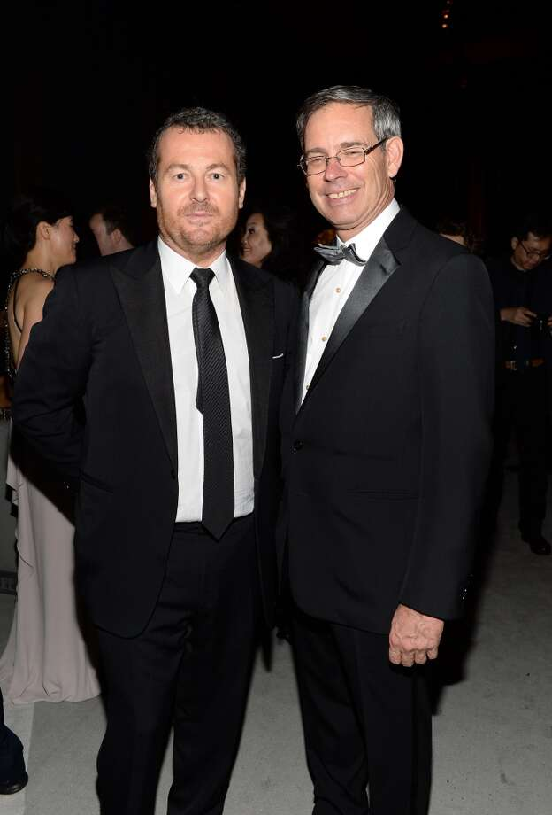 (L-R) Frederic Cumenal, Executive Vice President of Tiffany & Co. and Chairman and CEO Mike Kowalski attend the Tiffany & Co. Blue Book Ball at Rockefeller Center on April 18, 2013 in New York City.