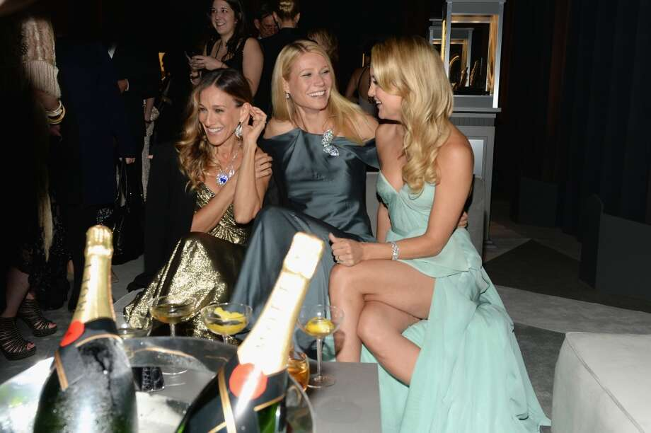 Actresses (L-R) Sarah Jessica Parker, Gwyneth Paltrow and Kate Hudson attend the Tiffany & Co. Blue Book Ball at Rockefeller Center on April 18, 2013 in New York City.