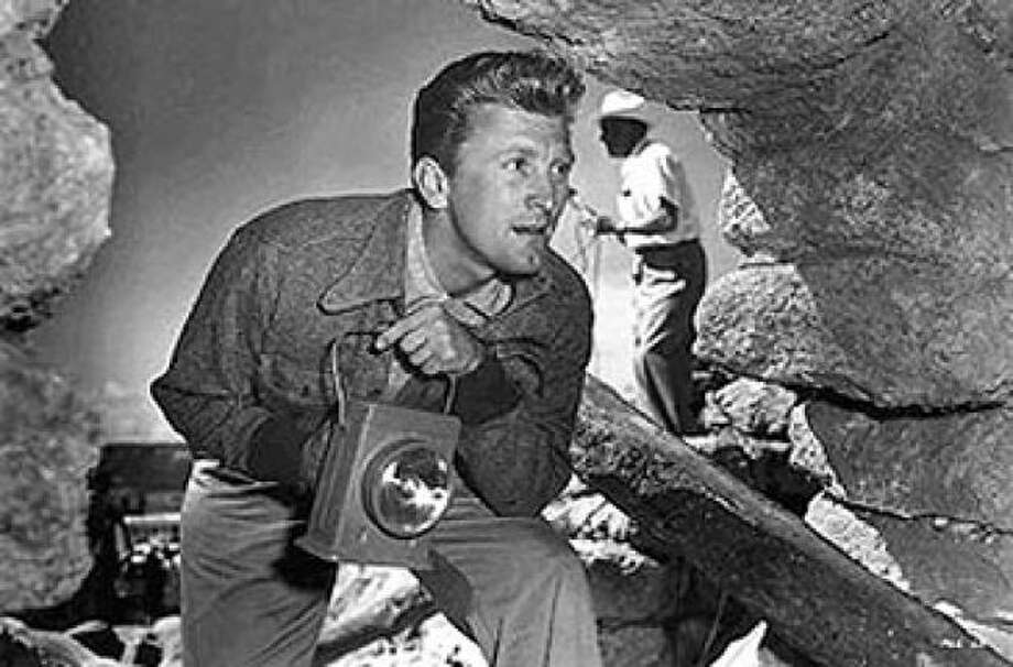 Kirk Douglas, in ACE IN THE HOLE.