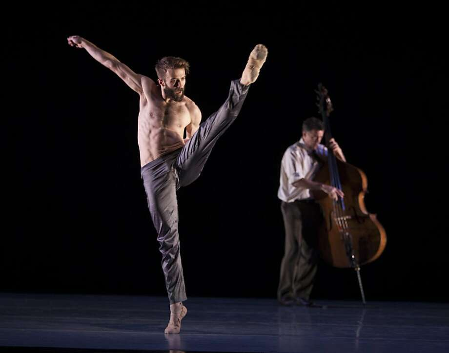 "David Harvey and double bassist and composer Edgar Meyer perform Lines Ballet's ""Meyer"" at Yerba Buena Center for the Arts. Photo: Angela Sterling"
