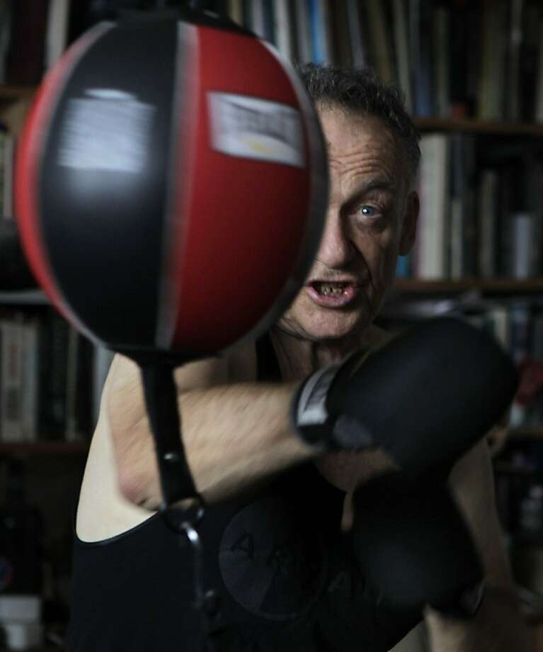 "John O'Keefe hones his boxing skills for his upcoming one-man performance of ""17th"" at Project Artaud. Photo: Paul Chinn, The Chronicle"