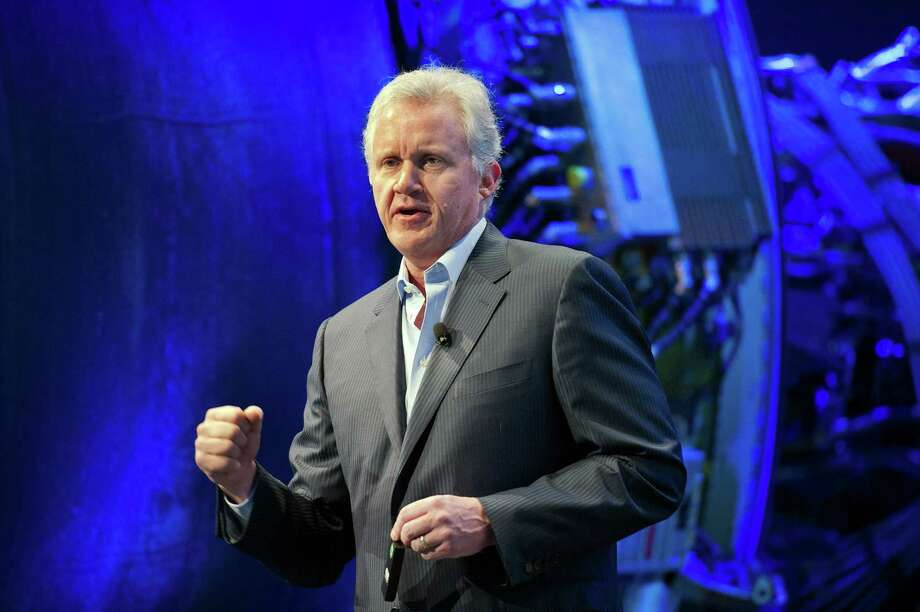 "Jeffrey ""Jeff"" Immelt, chairman and chief executive officer of General Electric Co. (GE), speaks during a keynote address at the Minds + Machines 2012: Unleashing the Industrial Internet conference in San Francisco, California, U.S., on Thursday, Nov. 29, 2012. Thought leaders from across business, technology and academia will gather at the Minds + Machines 2012 conference to discuss the power of the Industrial Internet and why it matters. Photographer: David Paul Morris/Bloomberg *** Local Caption *** Jeff Immelt Photo: David Paul Morris, Bloomberg / © 2012 Bloomberg Finance LP"