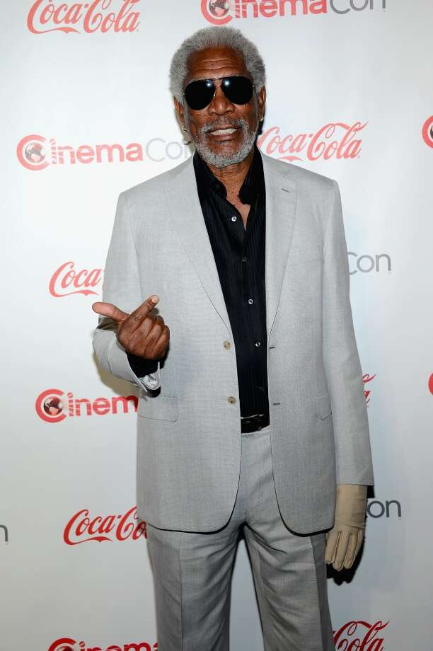 Actor Morgan Freeman, recipient of the Cinema Icon Award, arrives at the CinemaCon awards ceremony at the Pure Nightclub at Caesars Palace during CinemaCon, the official convention of the National Association of Theatre Owners, on April 18, 2013 in Las Vegas, Nevada.