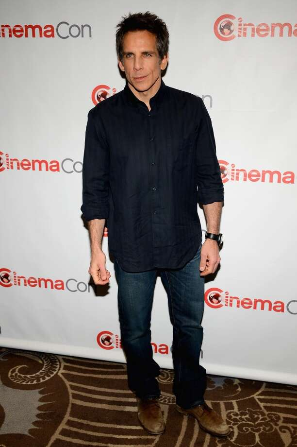 """Actor Ben Stiller arrives at a Twentieth Century Fox presentation to promote the upcoming film \""""The Secret Life of Walter Mitty\"""" at Caesars Palace during CinemaCon, the official convention of the National Association of Theatre Owners, on April 18, 2013 in Las Vegas, Nevada."""