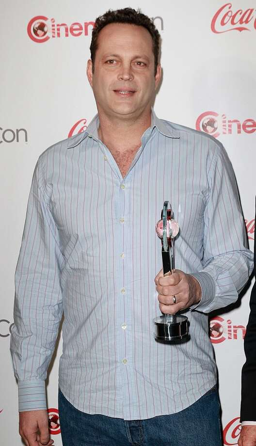 Actor Vince Vaughn, recipient of the Comedy Duo of the Year Award, arrives at the CinemaCon Big Screen Achievement Awards at the Pure Nightclub at Caesars Palace during CinemaCon 2013 on April 18, 2013 in Las Vegas, Nevada.