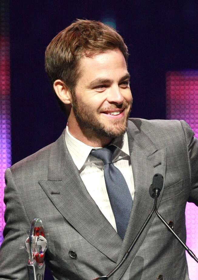 Actor Chris Pine, recipient of the Male Star of the Year Award, speaks onstage at the CinemaCon 2013 Final Night Awards at Caesars Palace during CinemaCon, the official convention of the National Association of Theatre Owners on April 18, 2013 in Las Vegas, Nevada.