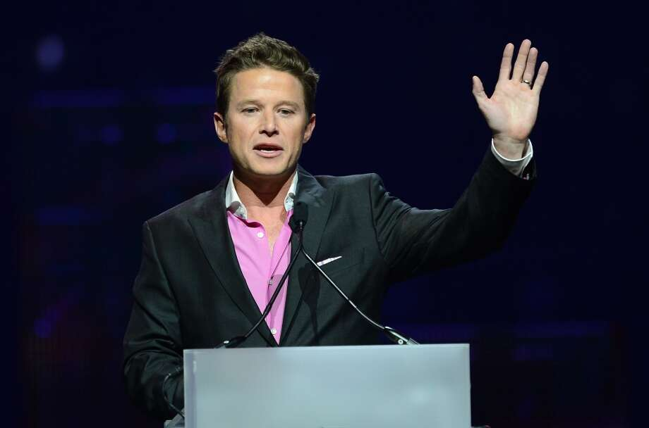 Radio and television personality Billy Bush hosts the CinemaCon awards ceremony at The Colosseum at Caesars Palace during CinemaCon, the official convention of the National Association of Theatre Owners, on April 18, 2013 in Las Vegas, Nevada.