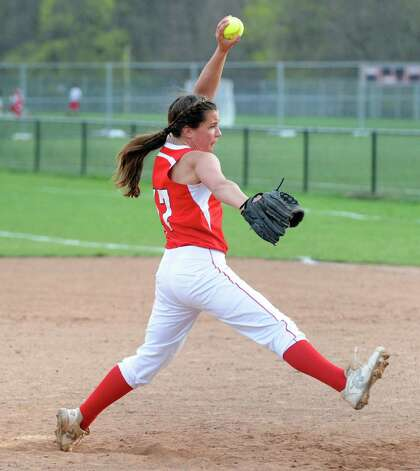 April 19, 2013. Greenwich won the game 13-1 as Kach pitched a 1-hitter