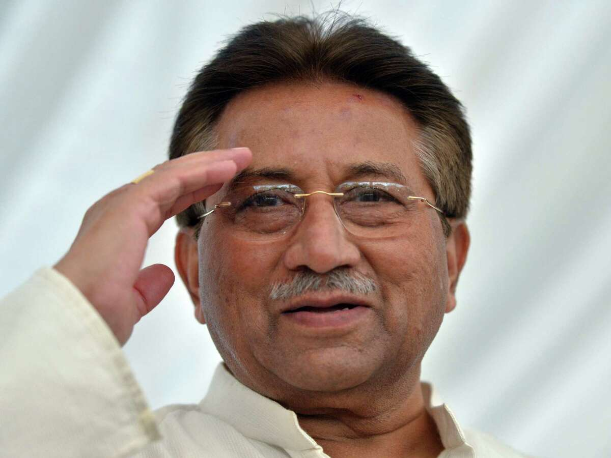 Pervez Musharraf was arrest- ed a day after he fled from court.