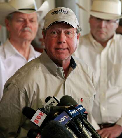 West Mayor Tommy Muska speaks, Friday April 19, 2013, during a press conference on an explosion at a fertilizer plant that occurred Wednesday evening in West, Tx. Photo: Edward A. Ornelas, San Antonio Express-News / © 2013 San Antonio Express-News
