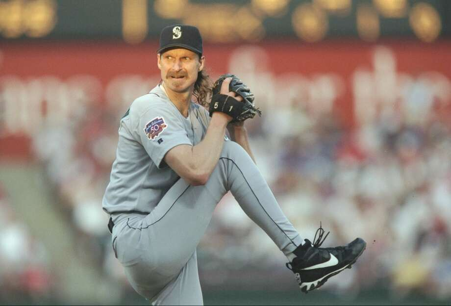 Starting pitcher: Randy Johnson (1989-98)The \'\'Big Unit\'\' broke out in his second year with the Mariners and is now regarded as one of the best-ever pitchers in baseball. Johnson spent 10 of his 22 major-league years in Seattle, led the league in strikeouts for four of those years, won the Cy Young in 1995 (and in \'99 through 2002 when he was in Arizona), and was a 10-time All-Star with five of those appearances as a Mariner. He\'s now honored in the Mariners Hall of Fame.
