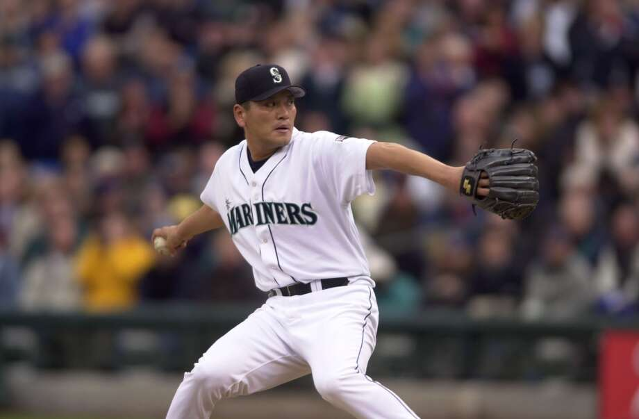 Relief pitcher: Kazuhiro Sasaki (2000-03)  He had a short, four-year stint in the major leagues, but all of them were with the Mariners. Sasaki was Rookie of the Year in 2000 and was an All-Star twice, finishing his career with 129 saves and a 3.14 ERA as a powerful closer on the mound during the M\'s early-2000s heydays.