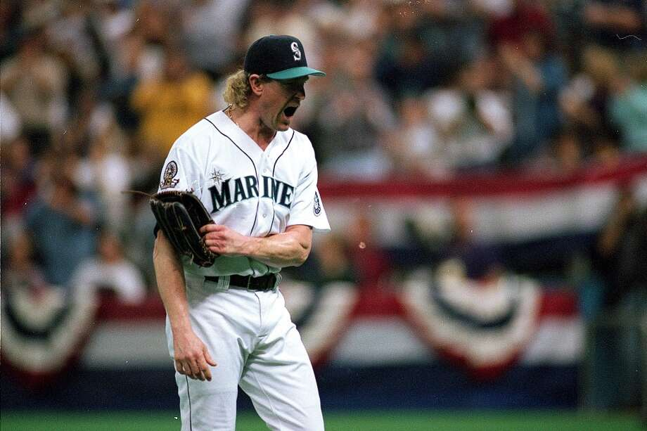 Relief pitcher: Norm Charlton (1993, \'95-97, 2001)When \'\'The Sheriff\'\' came into the game, fans knew the M\'s were about to win. Charlton actually played in Seattle in 1993, but an injury cut his season short and kept him out of the big leagues until 1995, when he returned for the Phillies then got traded back to the M\'s mid-\'95. A one-time All-Star, he was a key piece of the late-\'90s Mariners and finished his career with one final season in Seattle in 2001.