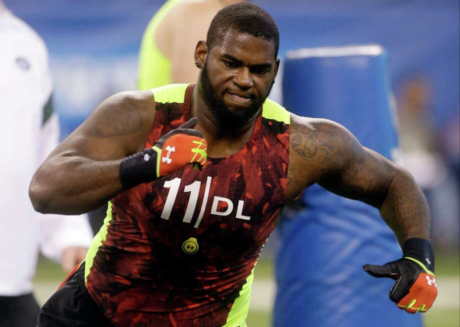 Sharrif Floyd is considered the consensus top prospect among defensive linemen. Photo: Dave Martin, STF / AP
