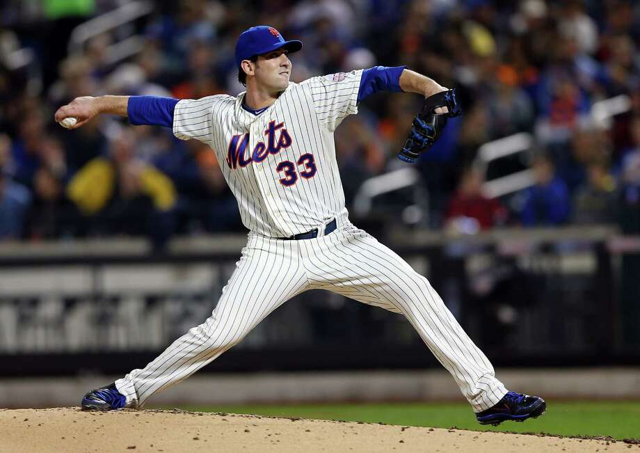 NEW YORK, NY - APRIL 19:  Matt Harvey #33 of the New York Mets delivers a pitch in the second inning against the Washington Nationals on April 19, 2013 at Citi Field in the Flushing neighborhood of the Queens borough of New York City.  (Photo by Elsa/Getty Images) Photo: Elsa