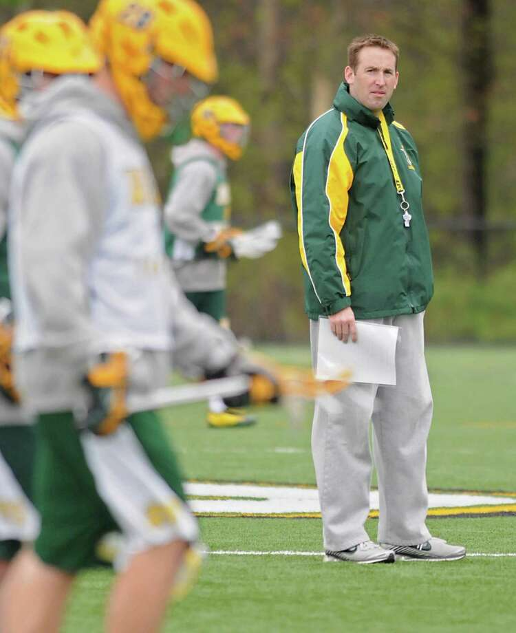 Siena lacrosse coach Brian Brecht during practice at Siena in Loudonville, NY on April 27, 2010. For Pete Iorizzo story. (Lori Van Buren / Times Union) Photo: LORI VAN BUREN / 00008489A