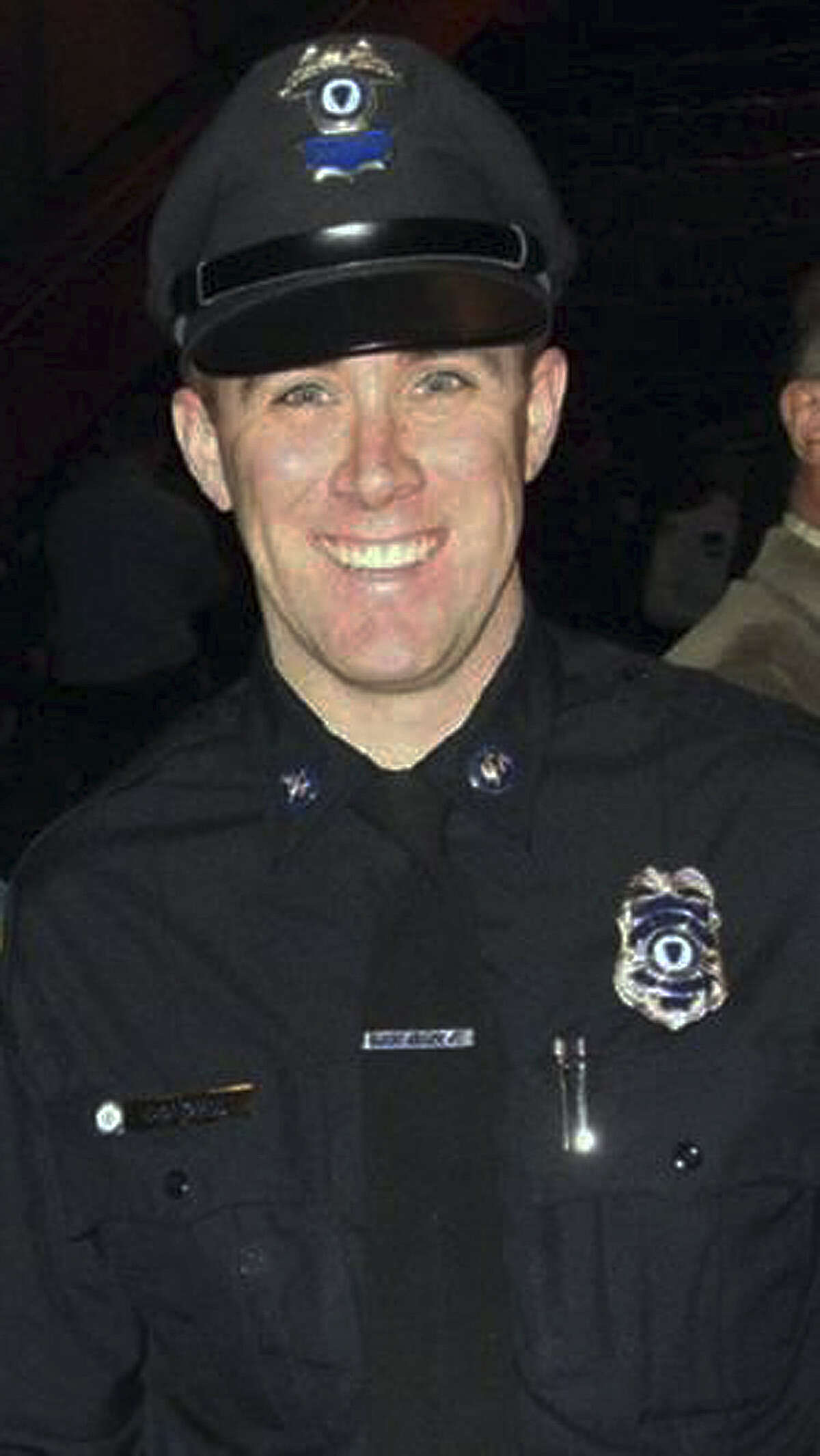 MBTA officer Richard Donohue, 33, was seriously injured early Friday morning.
