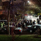 WATERTOWN, MA - APRIL 19:  Members of a police S.W.A.T. team exit Franklin Street moments after 19-year-old bombing suspect Dzhokhar A. Tsarnaev  was apprehended on April 19, 2013 in Watertown, Massachusetts. A manhunt for Boston Marathon bombing suspect Tsarnaev ended this evening with his capture on a boat parked on a residential property in Watertown, Massachusetts. His brother Tamerlan Tsarnaev, 26, the other suspect, was shot and killed by police early this morning after a car chase and shootout with police. The two men are suspects in the bombings at the Boston Marathon on April 15 that killed three people and wounded at least 170.(Photo by Spencer Platt/Getty Images)