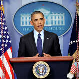 WASHINGTON, DC - APRIL 19:  U.S. President Barack Obama speaks from the White House about the capture of Dzhokhar A. Tsarnaev on April 19, 2013 in Washington, DC. A manhunt for a suspect in the Boston Marathon bombing, Dzhokhar A. Tsarnaev, 19, ended this evening with his capture on a boat parked on a residential property in Watertown, Massachusetts. His brother Tamerlan Tsarnaev, 26, the other suspect, was shot and killed by police early this morning after a car chase and shootout with police. The two men are suspects in the bombings at the Boston Marathon on April 15 that killed three people and wounded at least 170.  (Photo by Win McNamee/Getty Images)