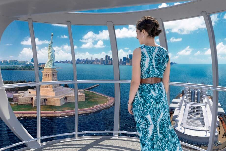 The North Star on Royal Caribbean's Quantum of the Seas offers lofty 360-degree views of ocean expanses and far-flung destinations, including the New York skyline.