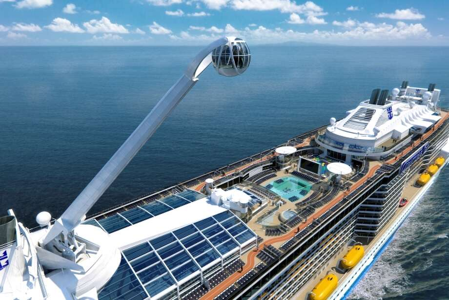 The North Star observation pod creates a unique profile for Royal Caribbean's Quantum of the Seas.