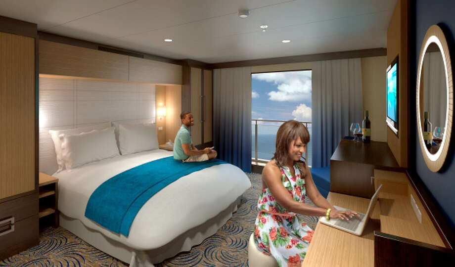 Every room on Quantum of the Seas will have a view, with interior cabins relying on \'virtual balconies\' that relay real-time scenes of the ocean and the cruise\'s destinations.
