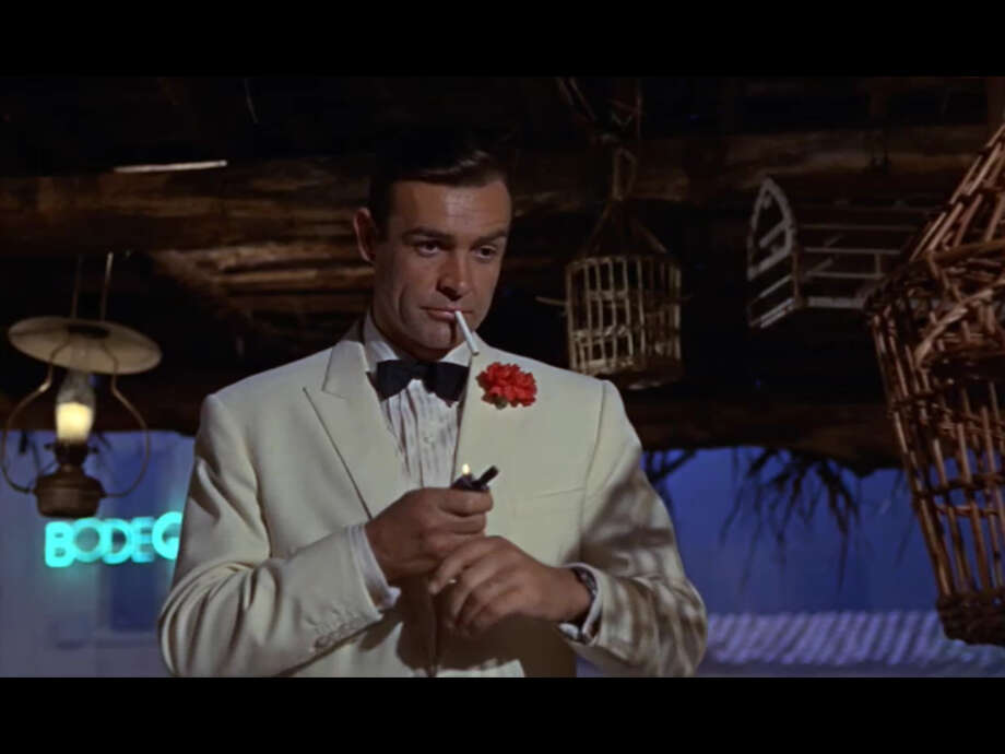 FIVE:Talk about Licensed to Cough: Bond in the books smoked about 70 cigarettes a day (he carried a cigarette case that holds 50), a Balkan and Turkish blend by Morelands of Grosvenor Street, London. While not considered addictive, Bond's other inhalent of choice was Benzedrine.