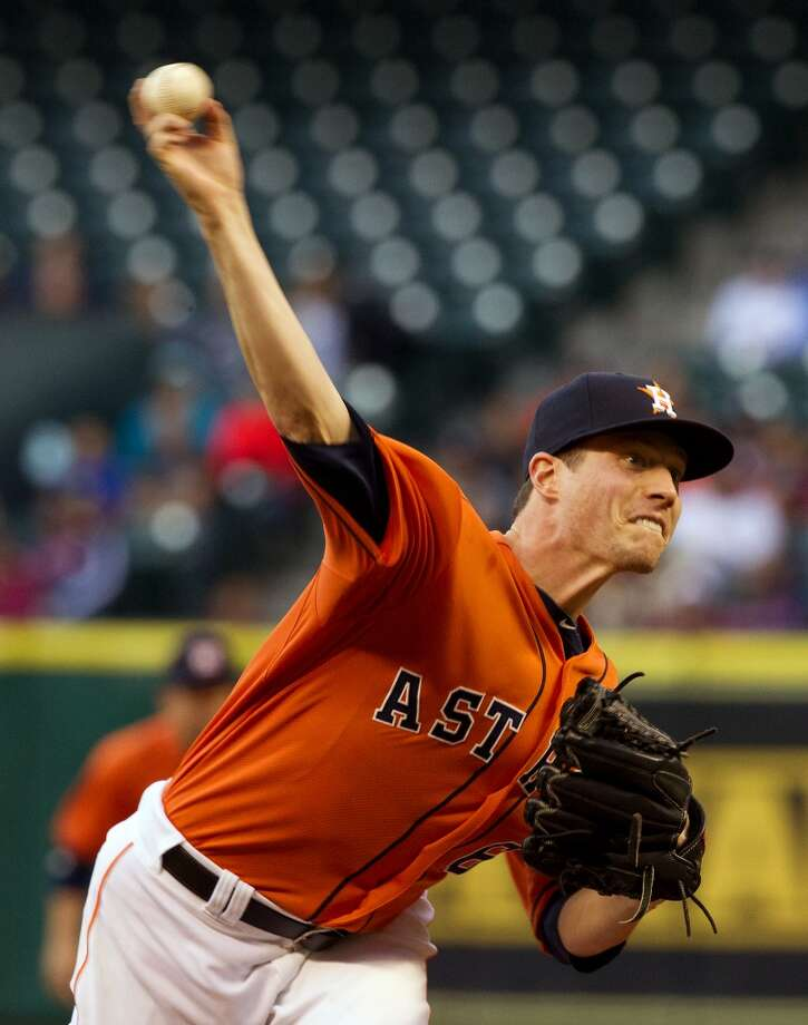 April 19: Astros 3, Indians 2The   Astros took game one against the Indians thanks to a solid performance by Lucas Harrell and a pair of bombs by J.D. Martinez and Rick Ankiel.  Record: 5-11. Photo: Cody Duty, Houston Chronicle