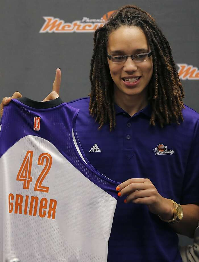 Brittney Griner: The No. 1 overall pick in the WNBA draft and current player for the Phoenix Mercury revealed she is a lesbian in April. Photo: Matt York, Associated Press