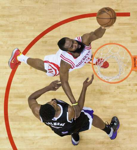 James Harden hasn't complained about his workload - 38.3 minutes per game, sixth-most in the league - but the Rockets would be wise to acquire more help for their talented shooting guard. Photo: Smiley N. Pool, Staff / © 2013  Houston Chronicle
