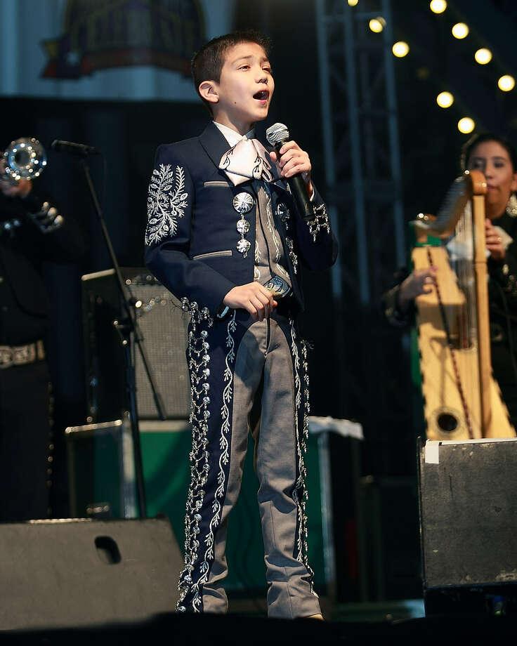 Pint-sized Mariachi vocalist Sebastien de la Cruz, 11