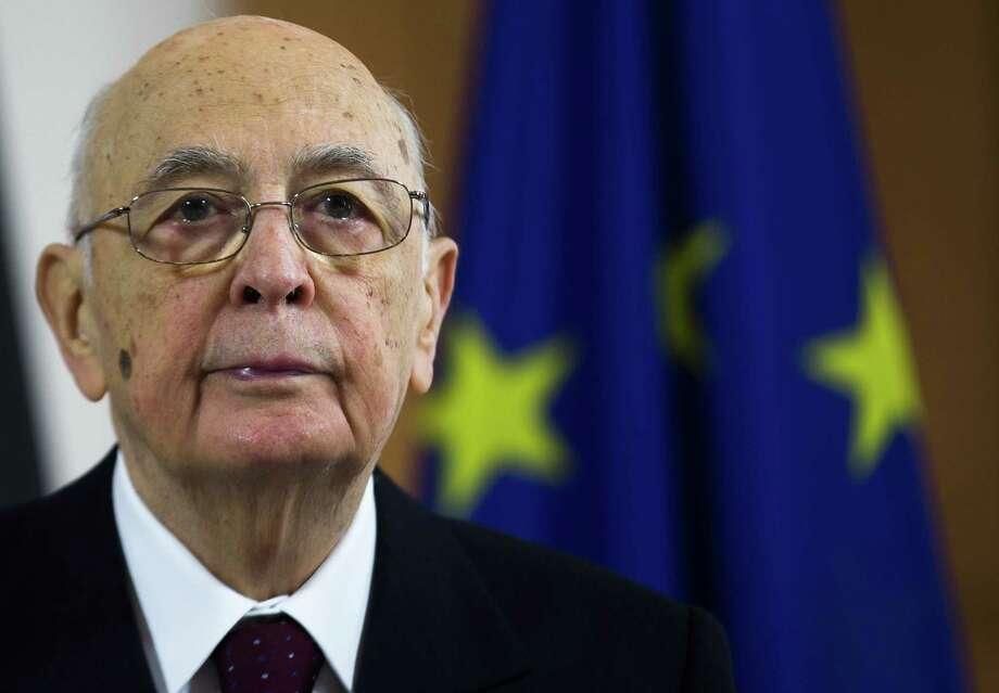 President Giorgio Napolitano yielded to pressure to run again.