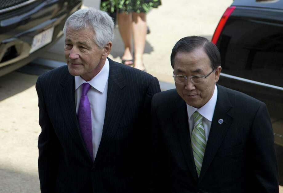 Secretary of Defense Chuck Hagel is on a weeklong trip to the Mideast