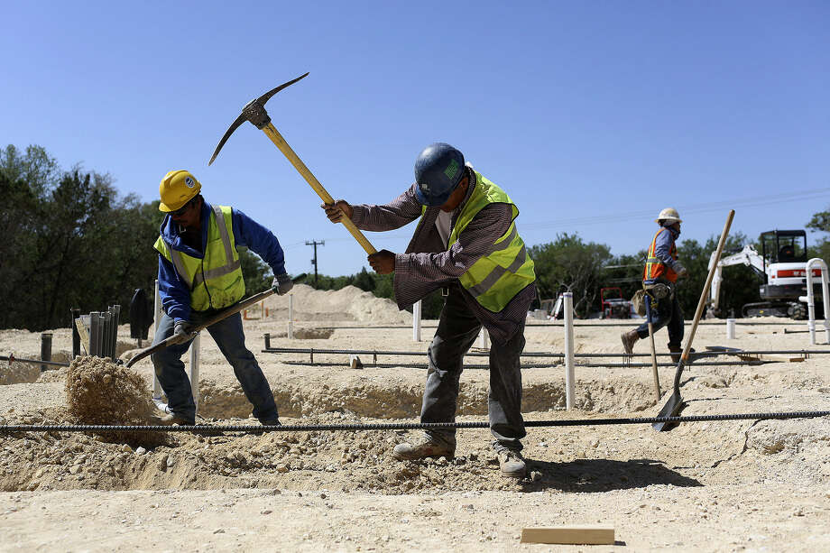 Construction is underway at Anne Frank Inspire Academy in San Antonio, an innovative middle school in a charter district. Photo: Lisa Krantz / San Antonio Express-News