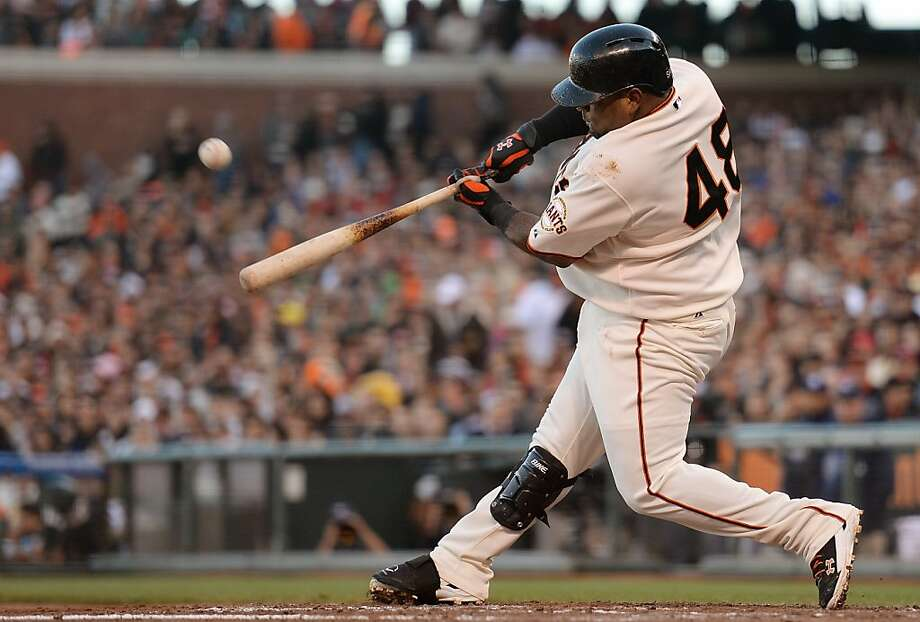 All of the game's scoring comes on one swing by Pablo Sandoval in the fourth. Photo: Thearon W. Henderson, Getty Images