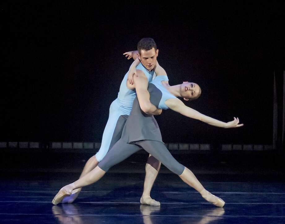 "Jeremy Kovitch and Alexsandra Meijer perform  in Jessica Lang's ""Eighty One"" for Ballet San Jose. Photo: Robert Shomler, San Jose Ballet"