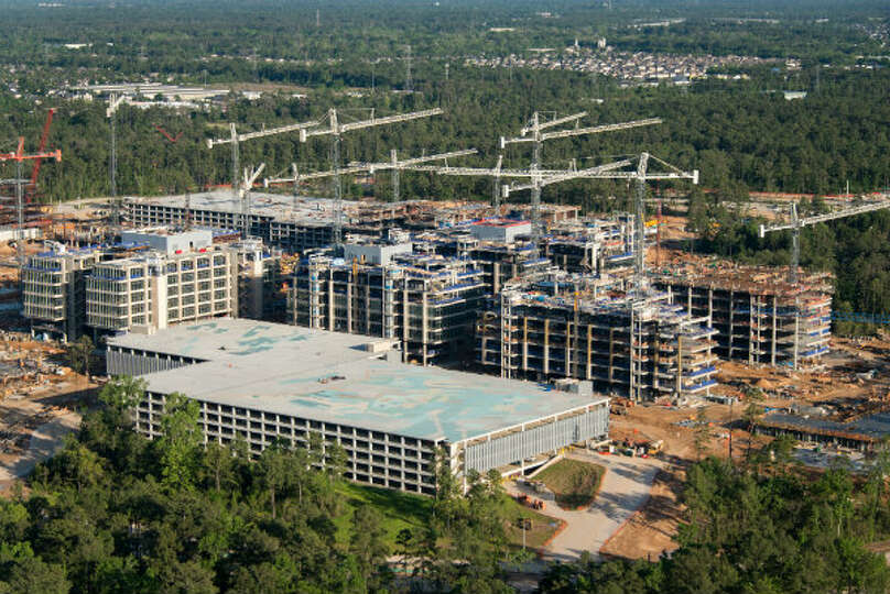 April 2013: The new Exxon Mobil corporate campus under construction near The Woodlands is seen on Th