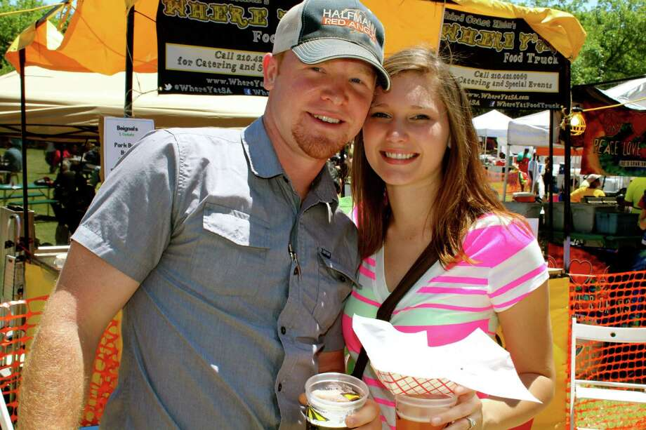 Revelers enjoy A Taste of New Orleans on Saturday, April 20, 2013, during Fiesta. Photo: Yvonne Zamora, MySA.com