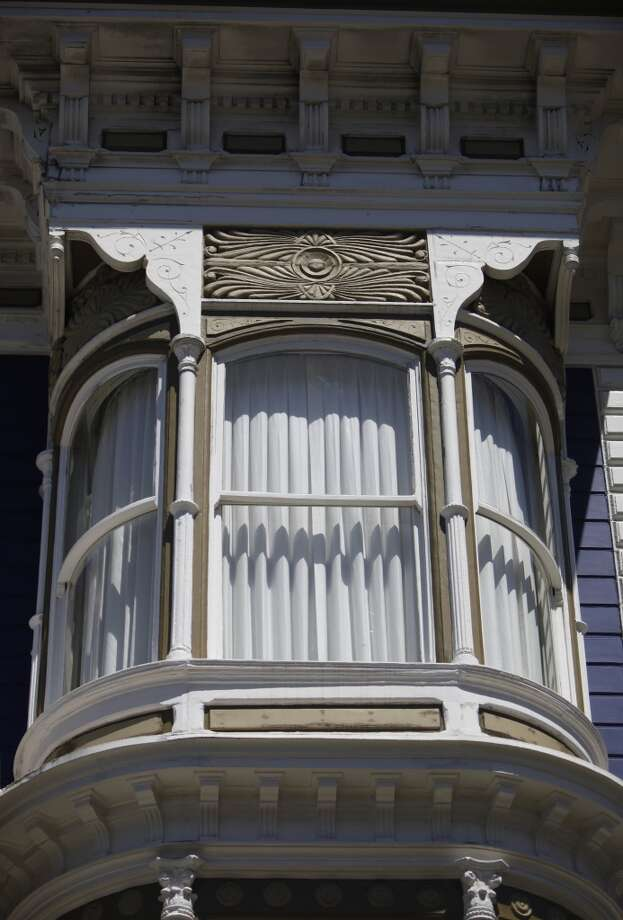 Parts of a Victorian home on California Street restored and rebuilt by Teevan is seen on Thursday, April 18, 2013 in San Francisco, Calif.
