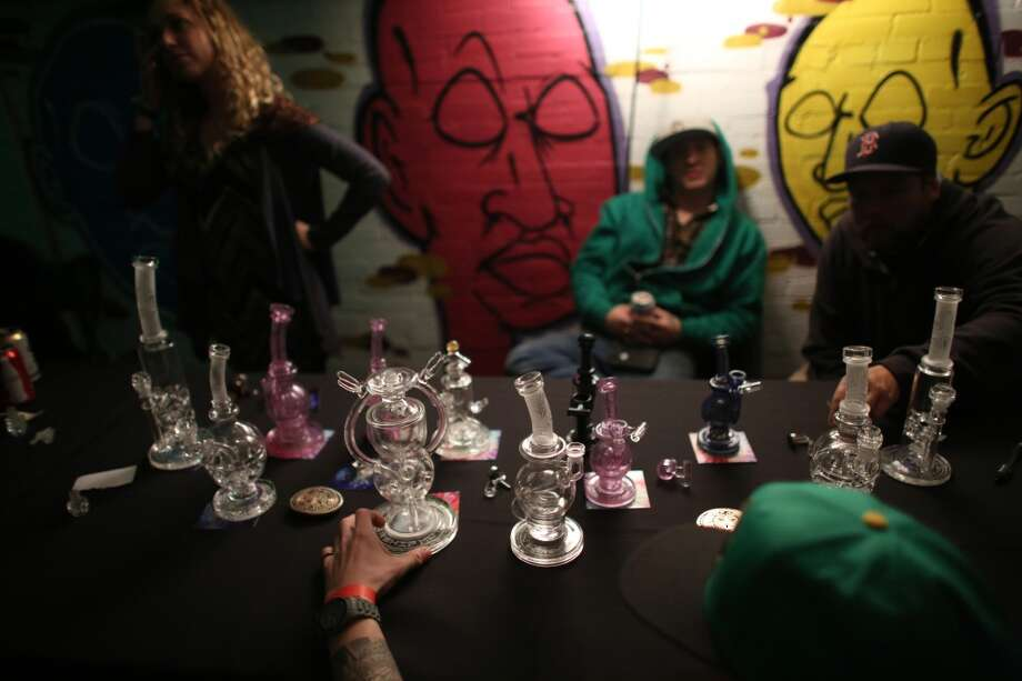 "Mothership glass is shown during ""Studio 4/20,"" a legal marijuana celebration put on by DOPE Magazine at 7 Point Studios on April 20, 2013 on South Dearborn Street. The event billed itself as the largest local marijuana celebration since pot was legalized by Washington voters. (Joshua Trujillo, seattlepi.com) Photo: JOSHUA TRUJILLO, SEATTLEPI.COM"