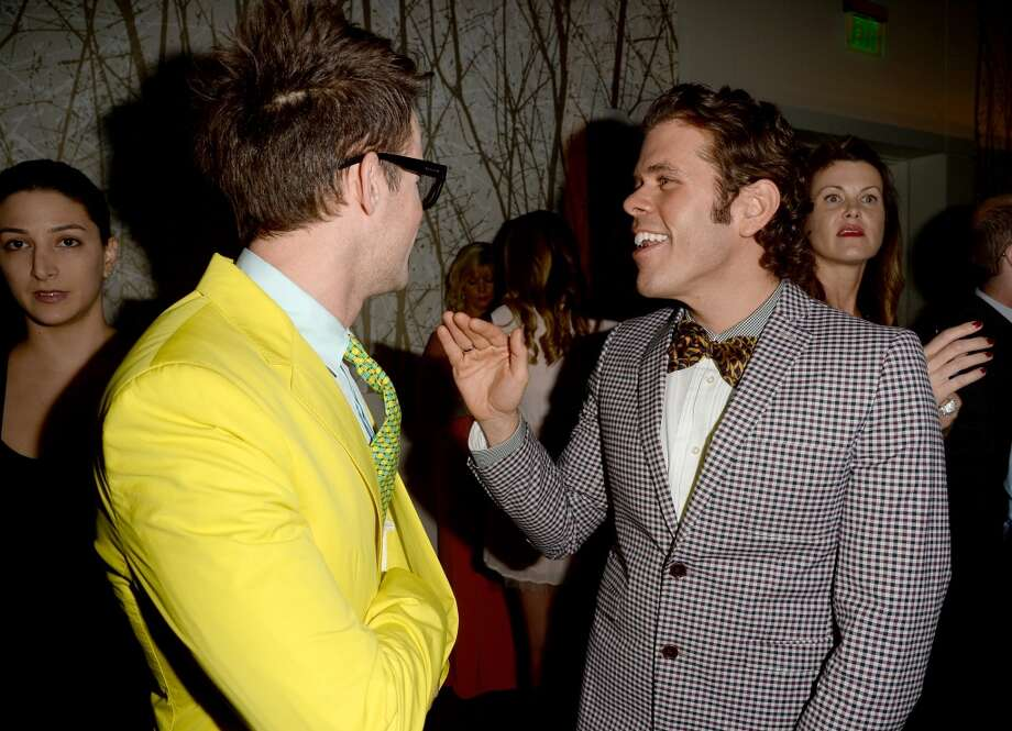LOS ANGELES, CA - APRIL 20:  TV personality Brad Goreski (L) and Perez Hilton arrive at the 24th Annual GLAAD Media Awards presented by Ketel One and Wells Fargo at JW Marriott Los Angeles at L.A. LIVE on April 20, 2013 in Los Angeles, California.  (Photo by Jason Merritt/Getty Images for GLAAD)