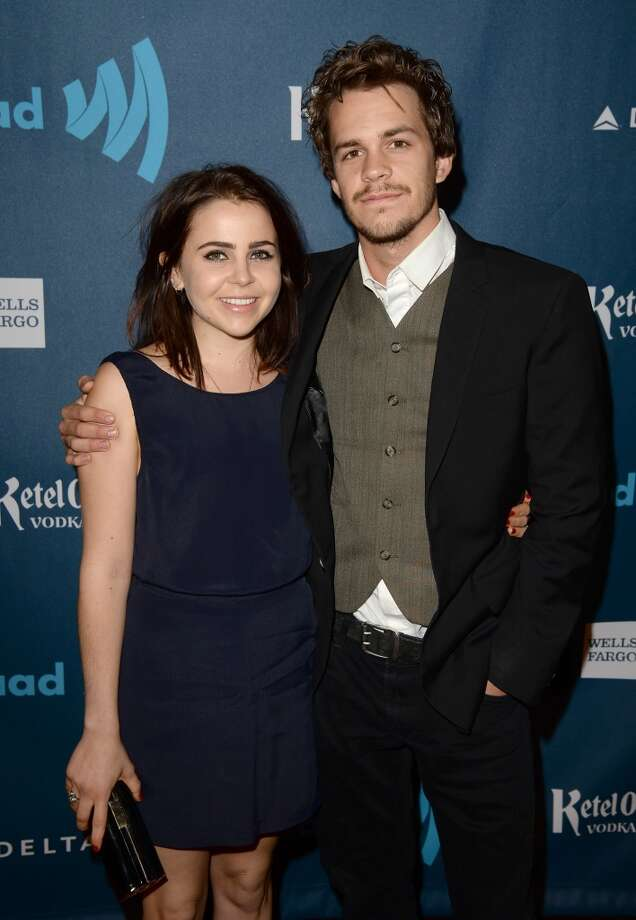 LOS ANGELES, CA - APRIL 20:  Actors Mae Whitman (L) and Johnny Simmons arrive at the 24th Annual GLAAD Media Awards presented by Ketel One and Wells Fargo at JW Marriott Los Angeles at L.A. LIVE on April 20, 2013 in Los Angeles, California.  (Photo by Jason Merritt/Getty Images for GLAAD)