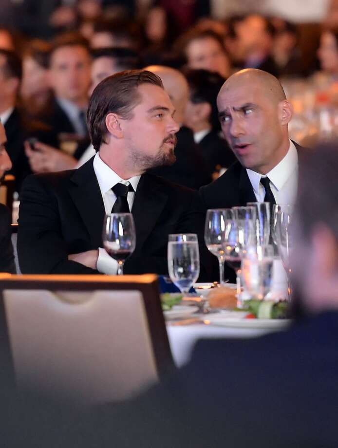 LOS ANGELES, CA - APRIL 20:  Actor Leonardo DiCaprio (L) and honoree Steve Warren attend the 24th Annual GLAAD Media Awards presented by Ketel One and Wells Fargo at JW Marriott Los Angeles at L.A. LIVE on April 20, 2013 in Los Angeles, California.  (Photo by Jason Merritt/Getty Images for GLAAD)