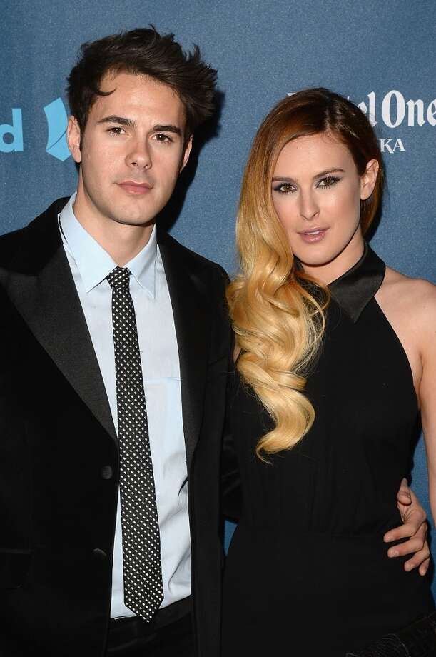 LOS ANGELES, CA - APRIL 20:  Actors Jayson Blair (L) and Rumer Willis arrive at the 24th Annual GLAAD Media Awards presented by Ketel One and Wells Fargo at JW Marriott Los Angeles at L.A. LIVE on April 20, 2013 in Los Angeles, California.  (Photo by Jason Merritt/Getty Images for GLAAD)