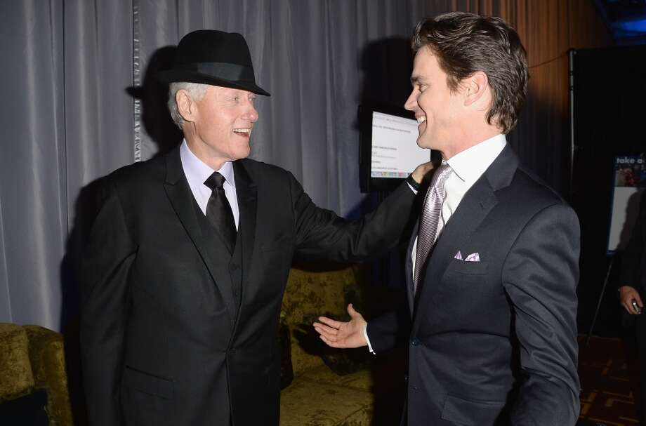 LOS ANGELES, CA - APRIL 20:  Former President of the United States Bill Clinton and actor Matt Bomer attend the 24th Annual GLAAD Media Awards presented by Ketel One and Wells Fargo at JW Marriott Los Angeles at L.A. LIVE on April 20, 2013 in Los Angeles, California.  (Photo by Jason Merritt/Getty Images for GLAAD)