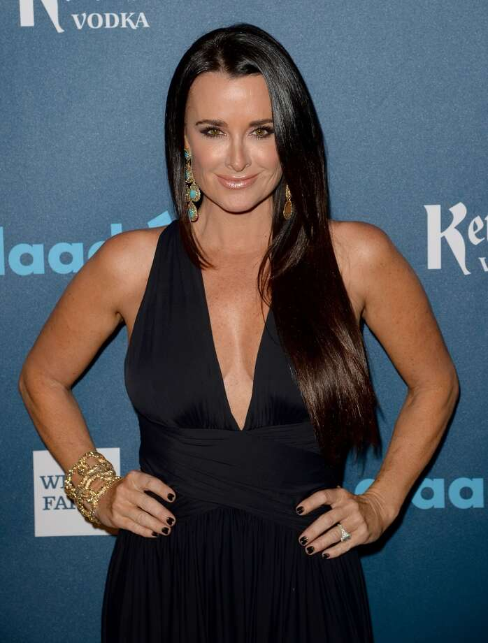 LOS ANGELES, CA - APRIL 20:  TV personality Kyle Richards arrives at the 24th Annual GLAAD Media Awards presented by Ketel One and Wells Fargo at JW Marriott Los Angeles at L.A. LIVE on April 20, 2013 in Los Angeles, California.  (Photo by Jason Merritt/Getty Images for GLAAD)
