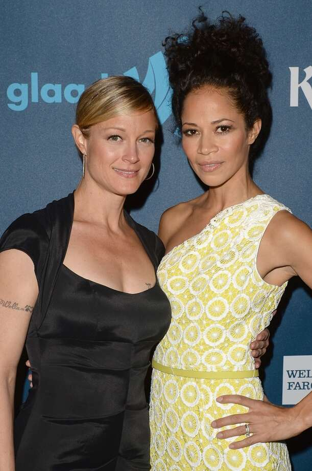LOS ANGELES, CA - APRIL 20:  Actresses Teri Polo (L) and Sherri Saum attend the 24th Annual GLAAD Media Awards presented by Ketel One and Wells Fargo at JW Marriott Los Angeles at L.A. LIVE on April 20, 2013 in Los Angeles, California.  (Photo by Jason Merritt/Getty Images for GLAAD)